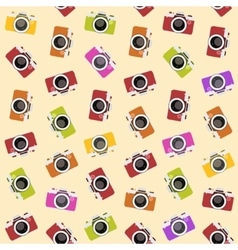 Seamless pattern with camera vector image vector image
