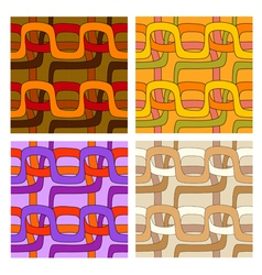 set of seamless patterns in different color ranges vector image vector image