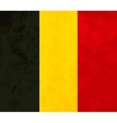 True proportions Belgium flag with texture vector image vector image
