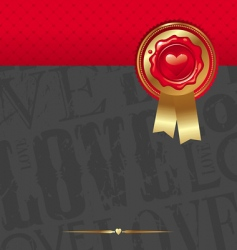 valentines abstract design vector image vector image