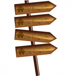 wood arrows vector image vector image