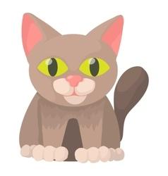Cat icon cartoon style vector image