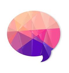 Color Speech Bubble vector image vector image