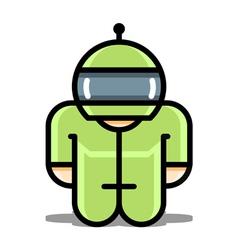 Cyborg robot toy icons vector