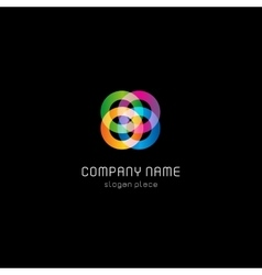Isolated abstract colorful circles logo vector image