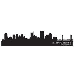 Sacramento California skyline Detailed silhouette vector image