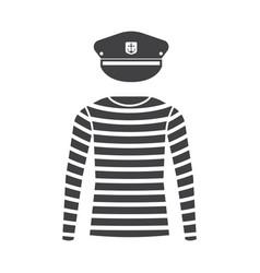 sailor shirt and captain cap vector image vector image