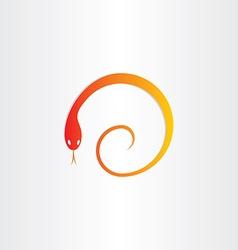 Snake in spiral pharmacy symbol vector