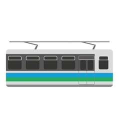 subway transport public icon vector image vector image