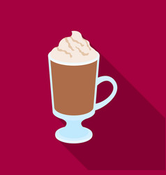 a cup of mocha with foamdifferent types of coffee vector image