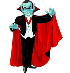 count dracula vector image vector image