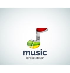 Music note logo template vector image vector image