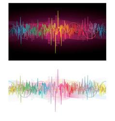 Rainbow Waves vector image vector image