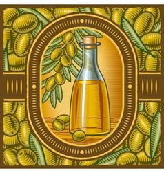 Retro olive oil vector image vector image