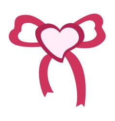 wrapped heart shape vector image