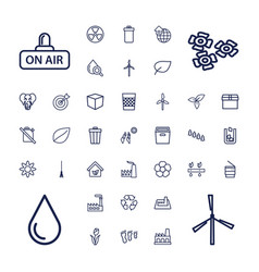37 environment icons vector