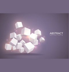 3d cubes background digital poster with cubes vector image