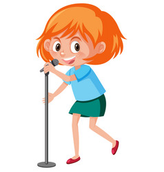 a girl singer character vector image