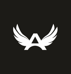 a initial letter with wings logo vector image