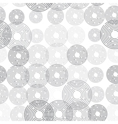 Abstract futuristic seamless pattern gray circles vector