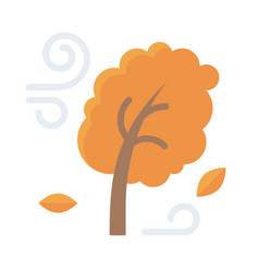 Autumn wind icon thanksgiving related vector