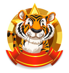 banner design with wild tiger vector image