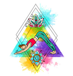 Beautiful hand drawn do yoga vector