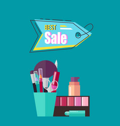 Best sale poster with cosmetic vector