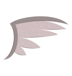 Bird wing icon cartoon style vector