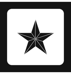 Black star icon simple style vector image