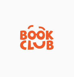 book club logo vector image
