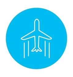 Cargo plane line icon vector image