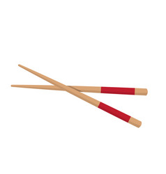 chopstick japanese icon isolated on white vector image