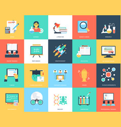Creative education flat icons vector
