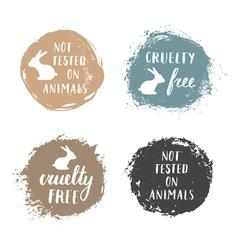 Cruelty free badges vector