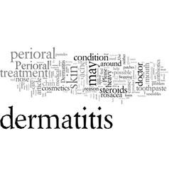 Dermatitis your toothpaste may cause dermatitis vector