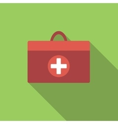 Doctor bag flat icon vector image