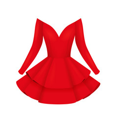 Elegant women cocktail prom red dresses vector