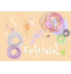 festival background vector image