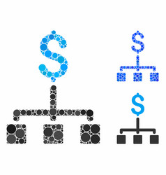 financial hierarchy mosaic icon round dots vector image