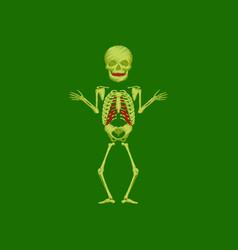 flat shading style icon human skeleton vector image