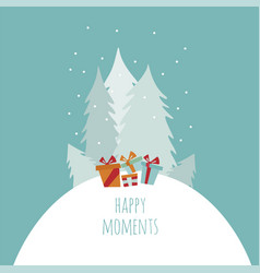 flat style christmas holiday elements for vector image