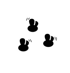 Flies small flying blackfly or midge silhouette vector