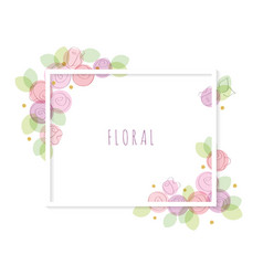 Floral decorative frame isolated on white vector