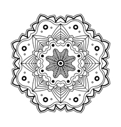 Floral simple mandala vector