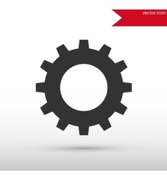 Gear black icon and jpg Flat style object vector image