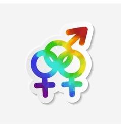 Gender identity icon Bisexual symbol vector