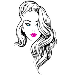 Girl hairdress vector