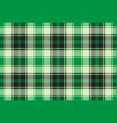 green diagonal plaid seamless pattern vector image