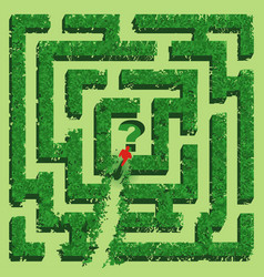 Green grass maze isolated on white background vector